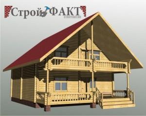 столбчатые сваи с каркасным домом