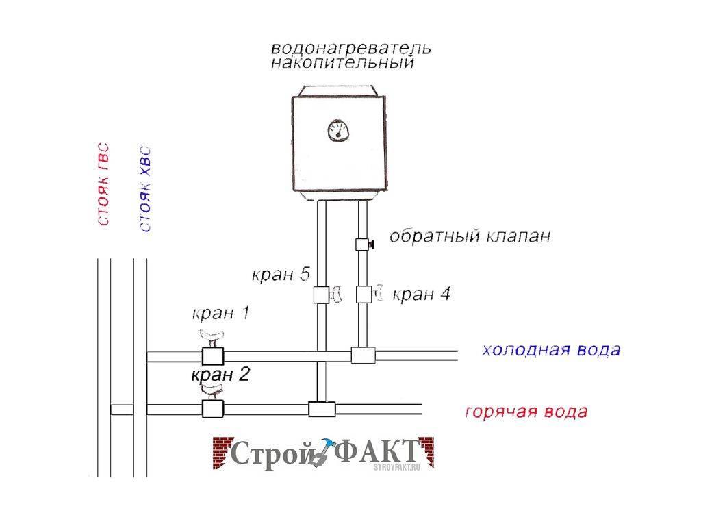 схема подключения нагревателя